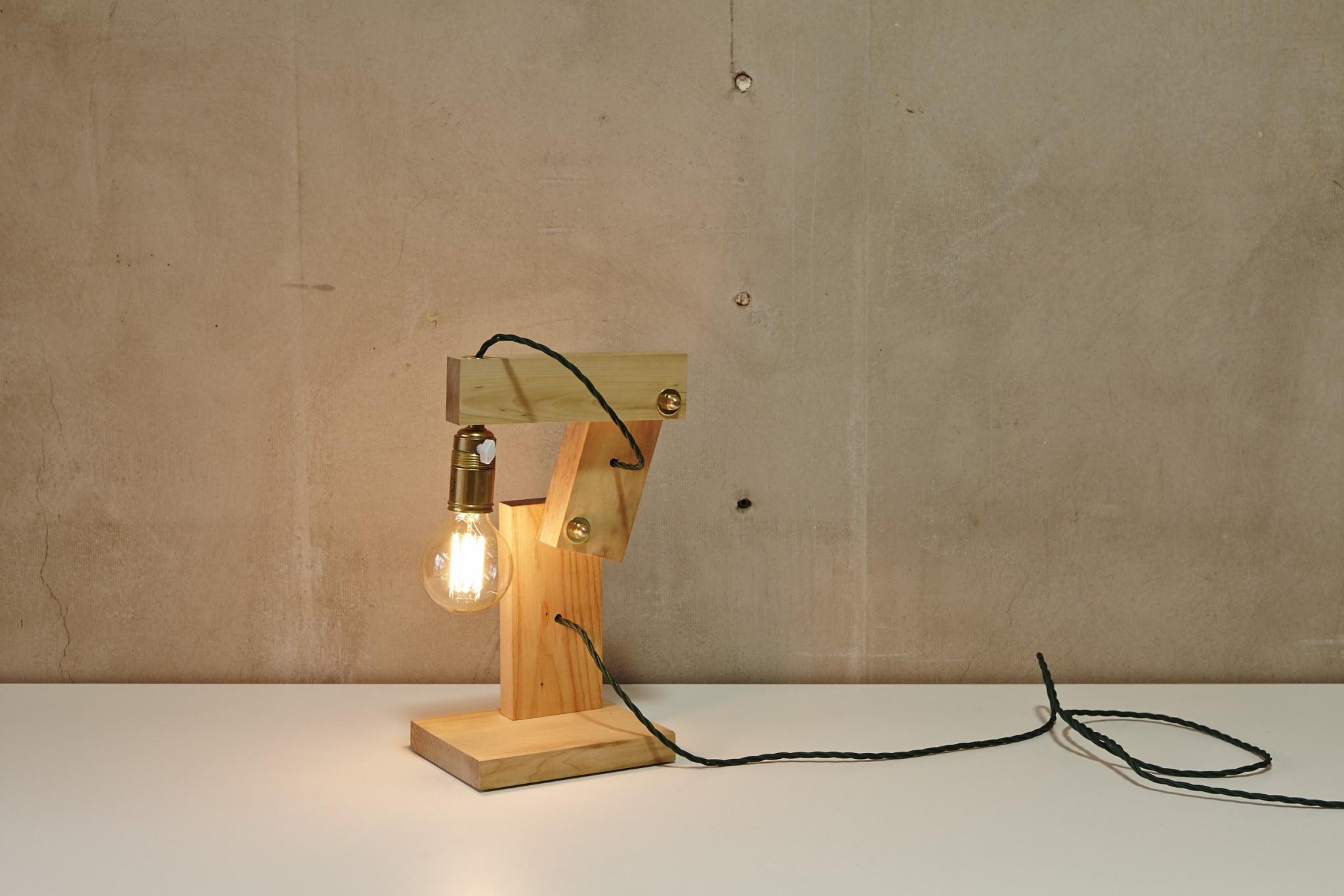 Handgefertigtes Lichtobjekt aus Holz von Georg Emrich / Diverses