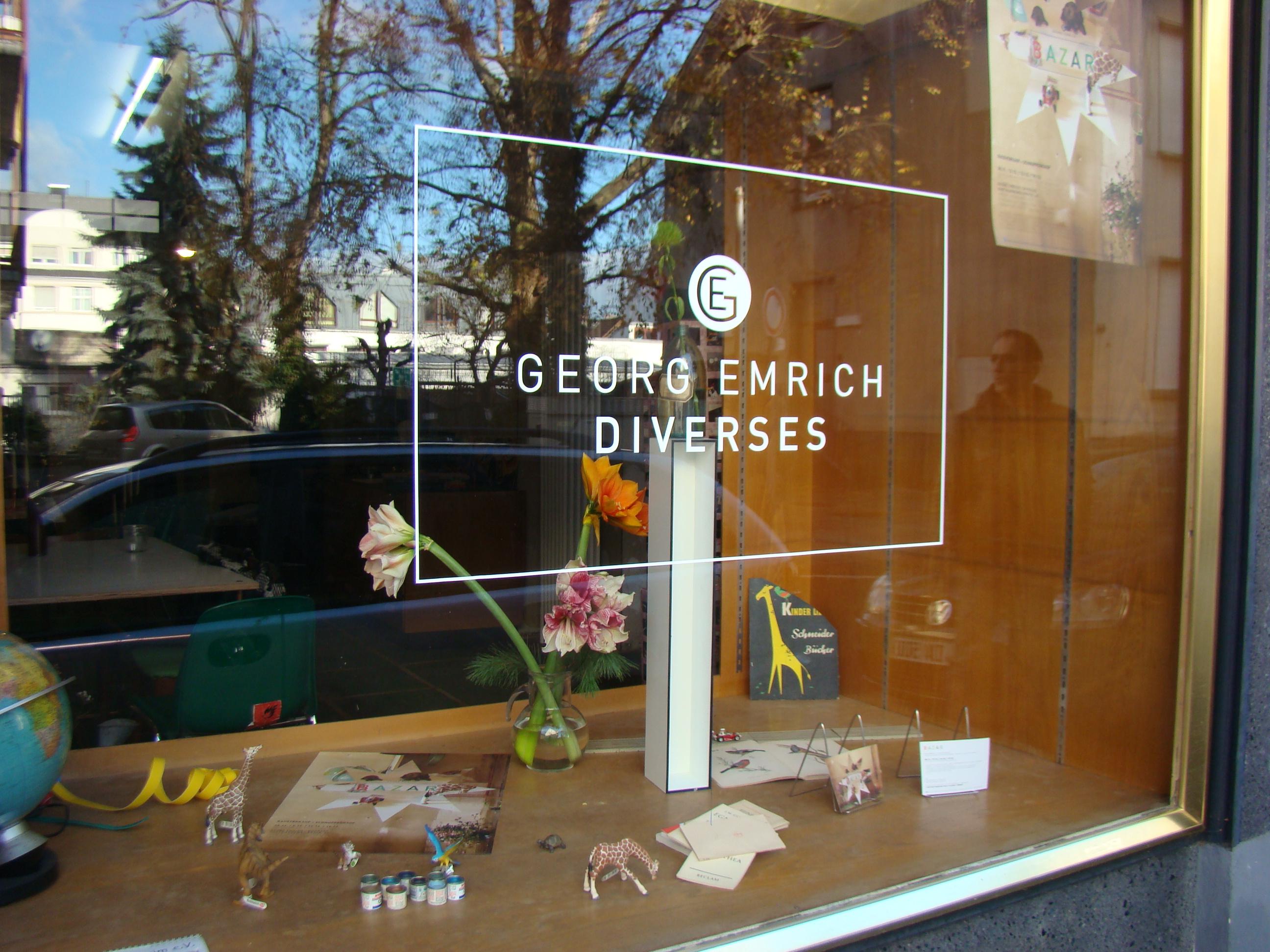 Schaufenster Georg Emrich / Diverses beim BAZAR